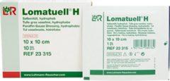 Witte Lohmann&Rauscher Lomatuell H, zalfgaas 10 x 10 cm, 10 stuks