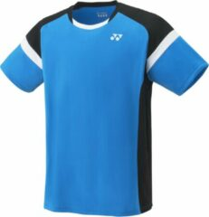Blauwe Yonex heren crew neck shirt - infinite blue - maat XXS