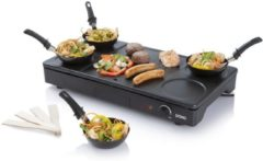 Zwarte Domo DO8712W - Wokset - Partyset met grill - 4 pannetjes