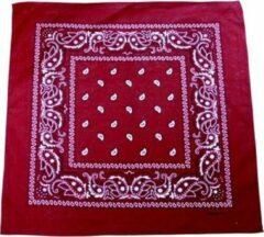 Bordeauxrode Zac's Alter Ego Bandana Paisley Bordeaux rood/Wit
