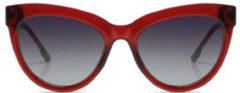Komono Liz Burgundy Zonnebril S6300 Dames - transparant rood