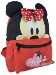 Rode Disney Rugzak Minnie Mouse Oortjes Rood 24 x 10 x 30 cm
