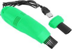 Bentoben Auto-interieurreiniger mini usb auto stofzuiger laptop borstel auto-interieur ventilatie stofverwijderingsset plug-in stofzuiger - groen