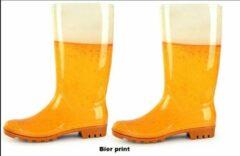 Gele Thema party Regenlaarzen Bierprint mt.39/40