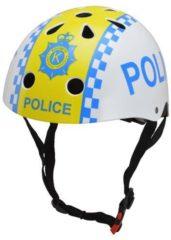 Blauwe Kiddimoto - Police - Small - Geschikt voor 2-6jarige of hoofdomtrek van 48 tot 52 cm - Design Skatehelm / Fietshelm
