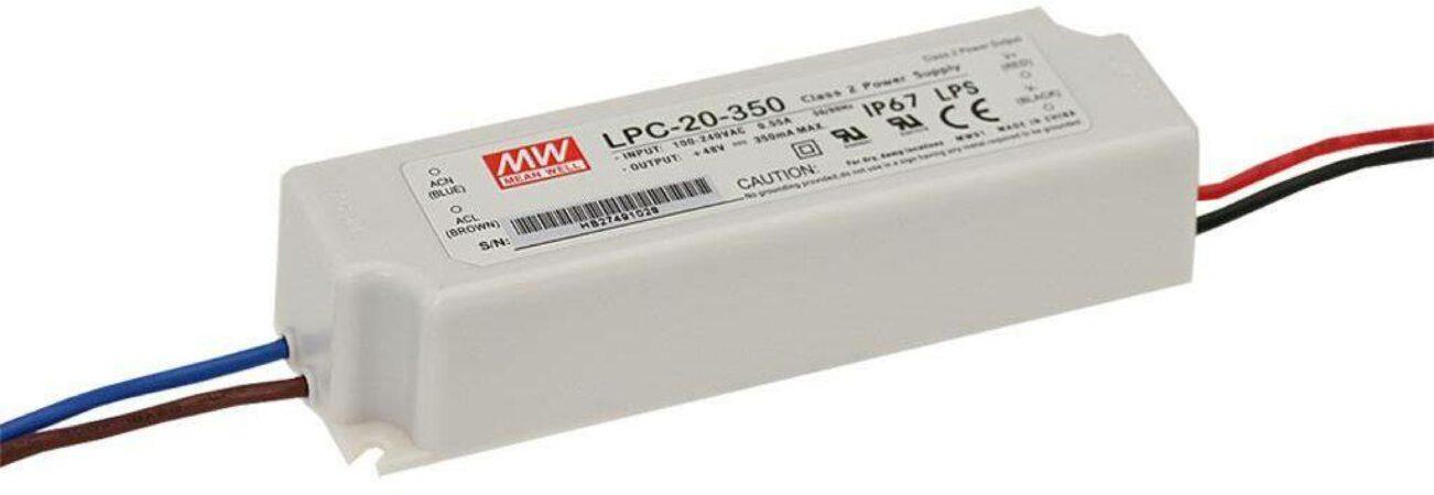 Afbeelding van Mean Well LPC-20-700 LED-driver Constante stroomsterkte 21 W (max) 700 mA 9 - 30 V/DC Overbelastingsbescherming, Niet dimbaar