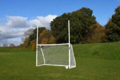 Precision voetbaldoel GAA 305 x 183 cm ABS wit 5-delig