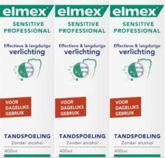 Elmex Sensitive Professional Tandspoeling - 3x 400 ml - Voordeelverpakking