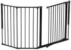 BabyDan Multifunctioneel Veiligheidshekje Flex M Zwart - 90 cm tot 146 cm