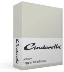Cinderella Jersey Topper Hoeslaken - 100% Gebreide Jersey Katoen - 2-persoons (140x200/210 Cm) - Light Grey