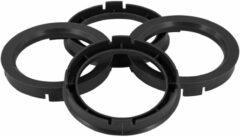 Universeel Set TPI Centreerringen - 69.1->52.1mm - Zwart