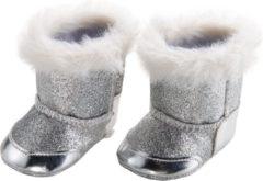 Heless Poppenschoenen Laarzen 30-34 Cm Meisjes Polyester Zilver