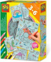 Glitterkaarten inkleuren SES - Knutselset Kleuren SES Creative Hobby