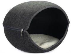 Beeztees innu - katteniglo - vilt - grijs - 60x57x41 cm