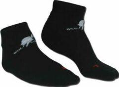 Wolf Camper Footie - Wandelsokken - Unisex - Maat 43-45 - Zwart