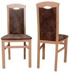 2er Set Stühle schoko