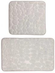 """Bagnola Badematten-Set """"Stone""""; 2-teilig - Größe 50x80cm, Grau"""