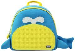 Upixel Little Blue Whale - Kinderrugzak - DIY Pixel Art - Blauw/Geel