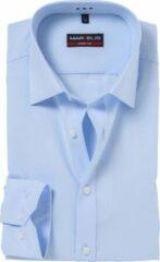 MARVELIS Body Fit overhemd - mouwlengte 7 - lichtblauw - Strijkvriendelijk - Boordmaat: 40