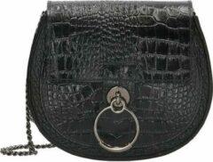 Zwarte Charm Leather crossbody tas black