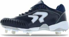 Ringor Dynasty Softbalschoenen met Metalen Spikes en Pitching Toe (PTT) - Donkerblauw - US 6,5
