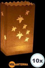 Witte Volanterna 10 x Candle bag HERFST, windlicht, papieren kaars houder, lichtzak, candlebag, candlebags, sfeerlicht, bedrukt, logo, foto