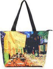 Robin Ruth Shopper Tas Medium 48x31cm Van Gogh - Caféterras bij nacht