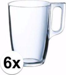 Transparante Luminarc Theeglazen/bekers 6 stuks 320 ml