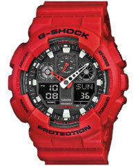 Rode Casio G-SHOCK Standard Analog Digitale Horloge GA100B 4A - Rood