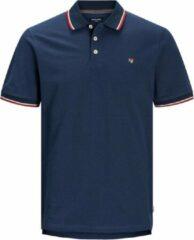 Donkerblauwe Jack & Jones Bluwin Heren Poloshirt - Maat XXL