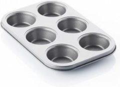 Zwarte POINT-VIRGULE - Muffinvorm 6 stuks 27x18cm