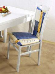 2er Set Stühle weiß/blau