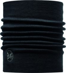 Zwarte Buff Nekwarmer Merino Wool Thermal - Black - Unisex - Maat One Size