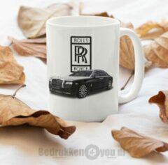 Witte Kimano Mok Rolls Royce - afbeelding auto en logo