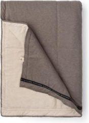 Bruine Walra Plaid Soft Jersey 130x180 cm Sand/Taupe