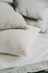 Licht-grijze Moes & Griet Cushion Cover Mist | Cotton Melange Vintage 50x50