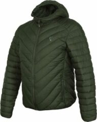 Fox Collection Quilted Jacket - groen Silver - Maat S