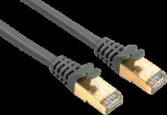 HAMA Netwerkkabel CAT-5E 1000 Mbps verguld 1 ster 1,5m