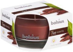 Bolsius Geurkaars True Scents Oud Wood 8 Cm Glas/wax Bruin