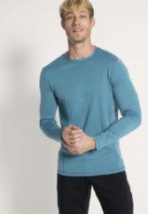 Hessnatur Herren-Outdoor Herren Funktionsshirt aus Bio-Merinowolle – blau – Größe 54