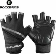 Zwarte ROCKBROS Large Gym anti-slip ademende beschermende handschoenen voor fiets en buitensport en bodybuilding voor mannen vrouwen Breathable Protective Gloves Outdoor Sports