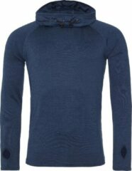 Blauwe AWDis Gewoon Cool Mens Cowl Neck Long Sleeve Baselayer Top (Marinemelange)