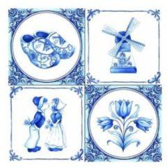 Blauwe Ambiente Vintage Papier Servetten - Holland - Decoupage - 20 stuks