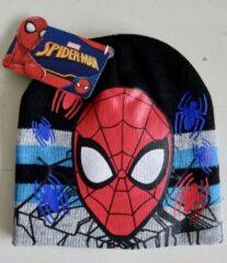 Suncity Zwarte muts van Spiderman maat 54