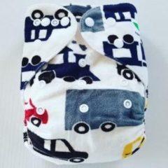 Merkloos / Sans marque OS57 One Size Pocket luier voertuig (minky)