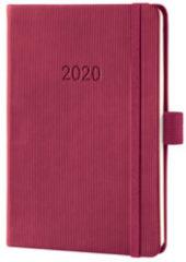 !weekagenda Sigel Conceptum A6 rosewood rood,176 blz., 80 g 2 Pagina's = 1 Week