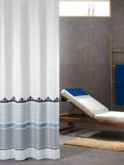 Blauwe Sealskin marrakech douchegordijn textiel 180x200cm polyester blauw 235281324
