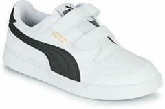 Puma puma shuffle sneakers wit/zwart kinderen