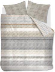 Grijze Ariadne At Home Quilted Squares Dekbedovertrek - 2-persoons (200x200/220 Cm + 2 Slopen) - Katoen - Natural