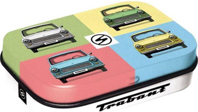Afbeelding van Nostalic art Pepermunt Blikje 'Trabant - Pop Art'